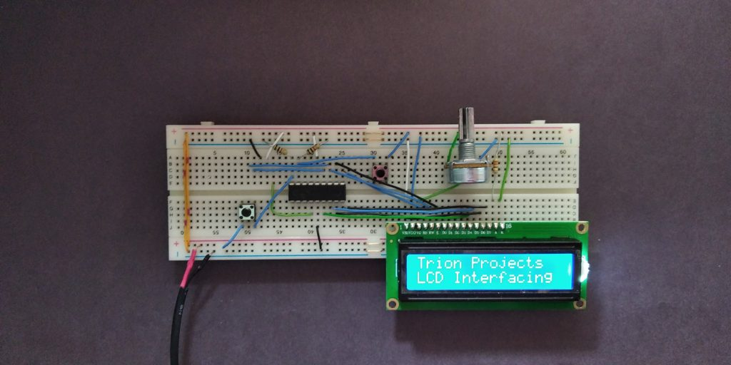 LCD interfacing with PIC microcontroller.